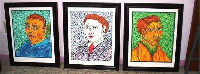 three van gogh styles by madvlad