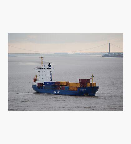 Container ship Humber Bridge Photographic Print