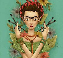 Frida Kahlo by pepitapasteles