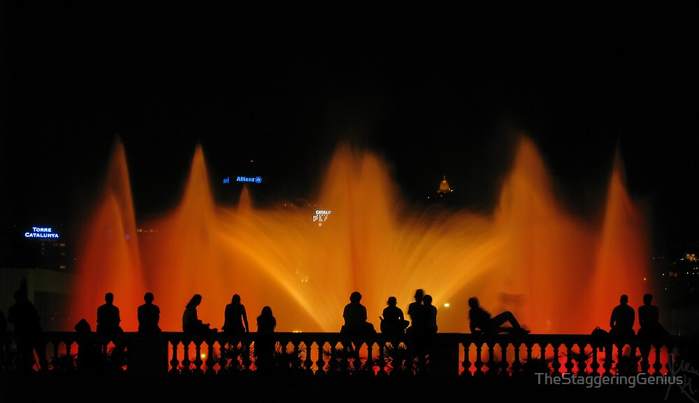 Magic Fountain, Montjuic by TheStaggeringGenius