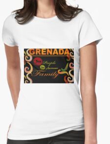 I Love Grenada The Isle of Spice Womens Fitted T-Shirt