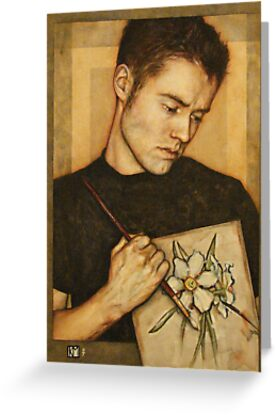 Self-Portrait with Narcissus Flower by Keelan McMorrow