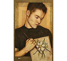 Self-Portrait with Narcissus Flower Photographic Print