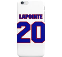 National Hockey player Martin Lapointe jersey 20 iPhone Case/Skin