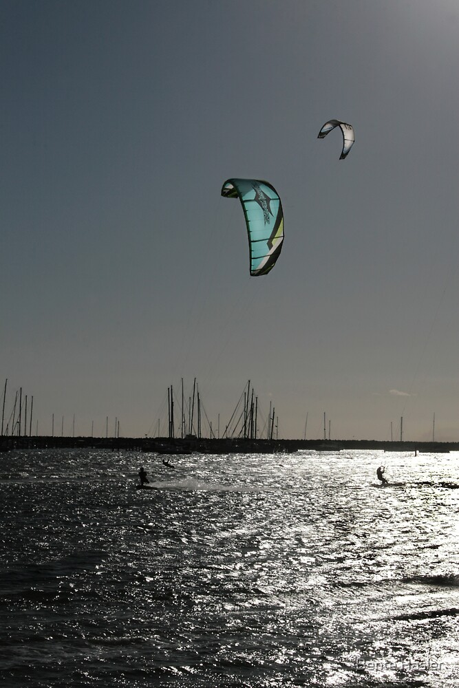 st. kilda kite surfer by Bente Hasler