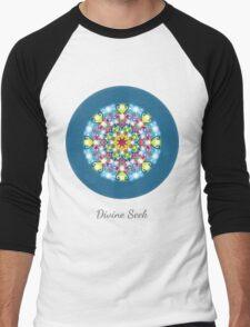 Divine Seek - Mandala Only Men's Baseball ¾ T-Shirt