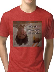 What's happenin', hot stuff? - Long Duk Dong - Sixteen Candles Tri-blend T-Shirt