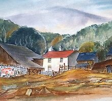 Landscape with cottages by Paul Sagoo by HurstPainters