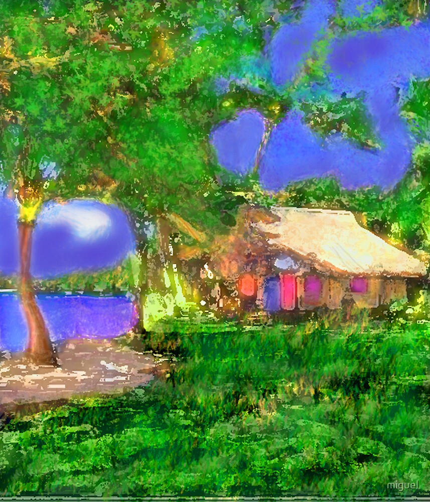A MEMORY OF A HOUSE I LIVED AT IN OAXACA, MEXICO by miguel