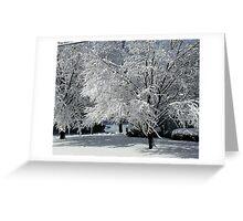 Winter Art Greeting Card