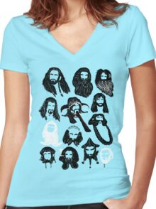 In the Company of Dwarves Women's Fitted V-Neck T-Shirt
