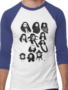 In the Company of Dwarves Men's Baseball ¾ T-Shirt
