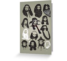 In the Company of Dwarves Greeting Card