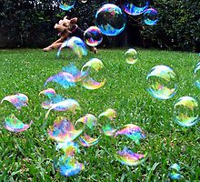 Happiness is....chasing my bubbles by agypsyk
