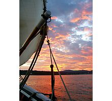Sunset Sail Photographic Print