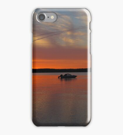 Sunset on Traverse Bay iPhone Case/Skin
