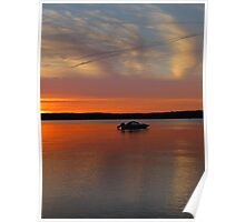 Sunset on Traverse Bay Poster