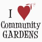 Community Garden Lover with peas by Northcote Community  Gardens