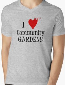 Community Garden Lover with peas Mens V-Neck T-Shirt