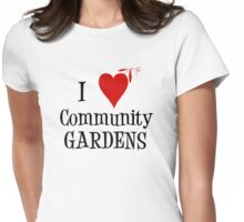 Community Garden Lover with peas Womens Fitted T-Shirt