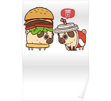 Puglie Burger and Drink Poster