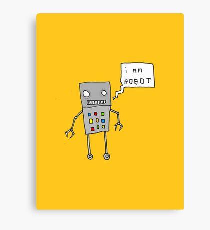 i am robot Canvas Print