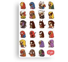 Puglie Heroes & Villains Canvas Print