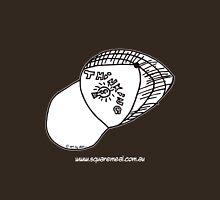 Thinking Cap on TShirt by Alex - dark shirt  Womens Fitted T-Shirt
