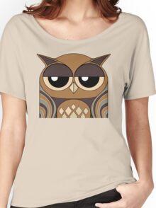 UNDERSTANDING OWL PORTRAIT Women's Relaxed Fit T-Shirt