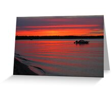 Summer Sunset on Traverse Bay Greeting Card