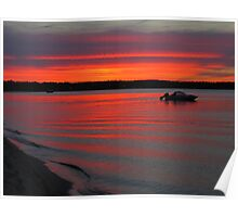 Summer Sunset on Traverse Bay Poster