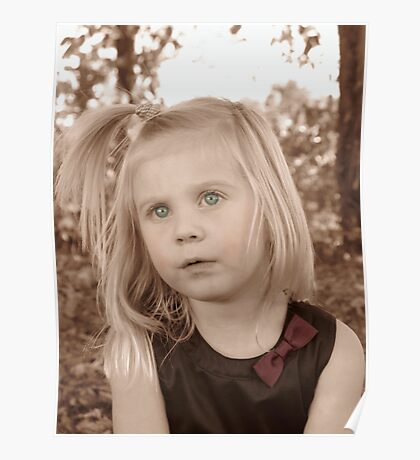 Portrait Of A Little Lady Poster