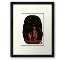 The grave of the fireflies Framed Print