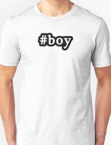 Boy - Hashtag - Black & White Unisex T-Shirt