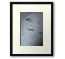 smoky lady Framed Print