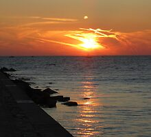 Summer Sunset on Lake Michigan by Kathy Russell