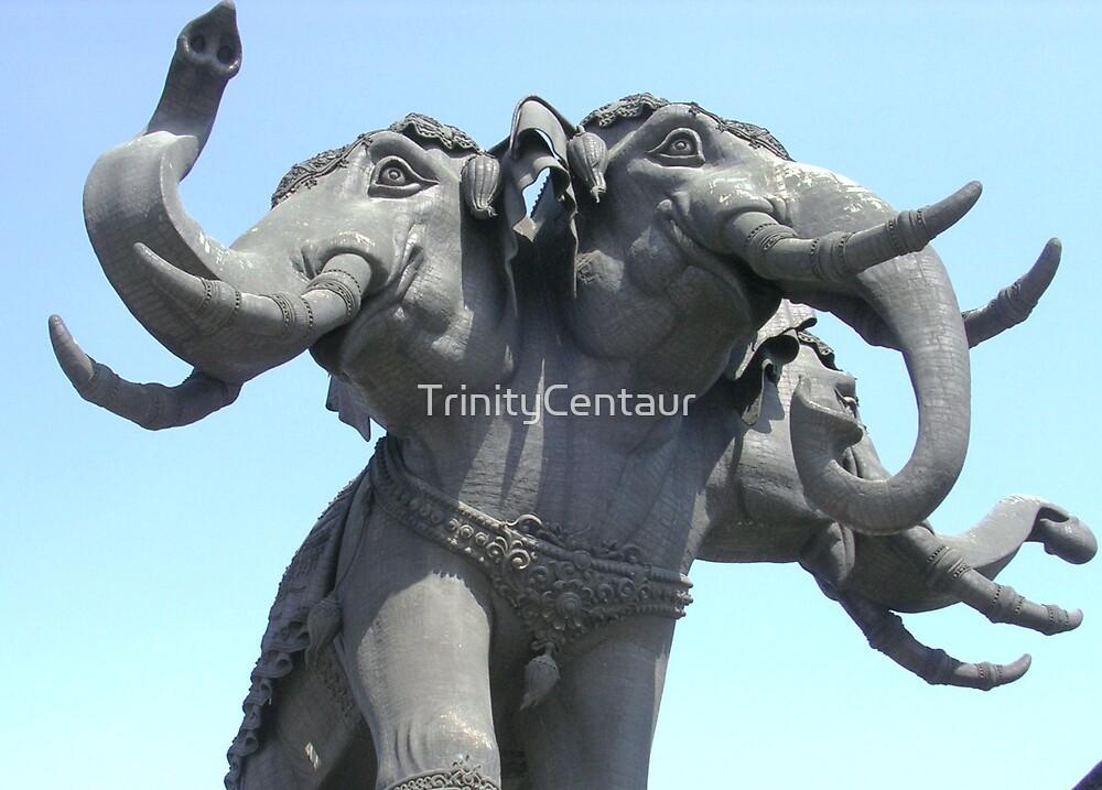 Erawan, 3 headed Elephant God by TrinityCentaur