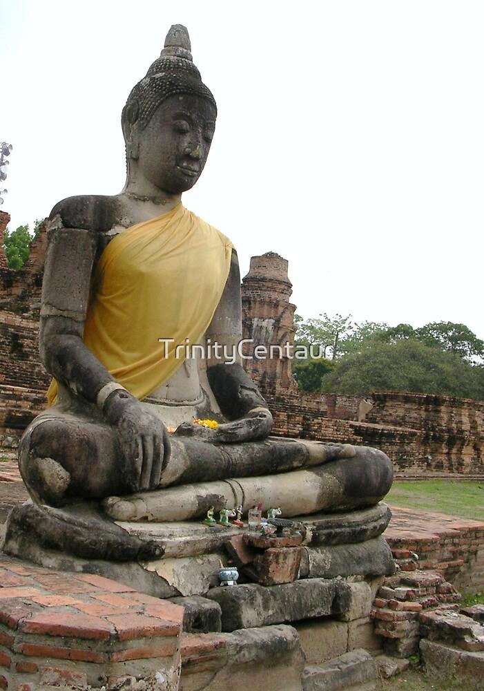 Ayuttaya - Sitting Buddha by TrinityCentaur