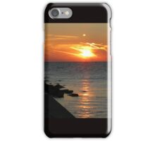 Summer Sunset on Lake Michigan iPhone Case/Skin
