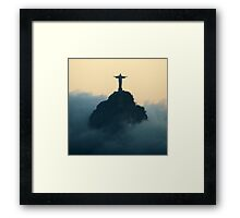 ghost christ Framed Print