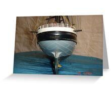 Old Tall Ship Model Greeting Card