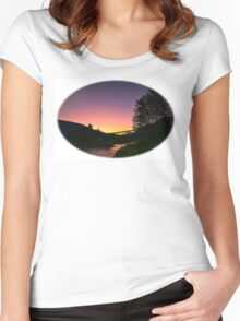 Illecillewaet River  sunrise Women's Fitted Scoop T-Shirt