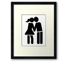 Couple kiss Framed Print