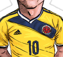 James World Cup Sticker