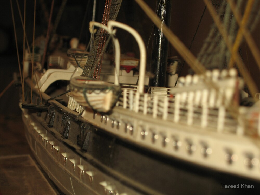 Old Tall Ship Model by Fareed Khan