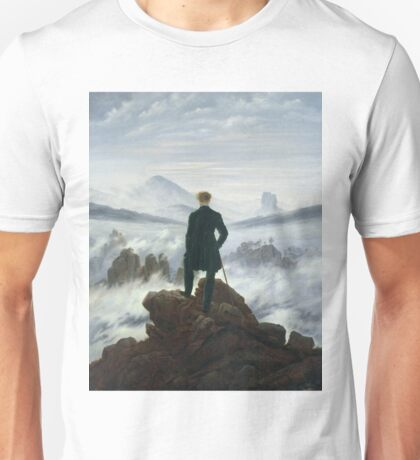 Caspar David Friedrich - The Wanderer Above The Sea Of Fog Unisex T-Shirt
