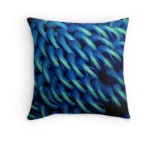 Blue Waratah Throw Pillow