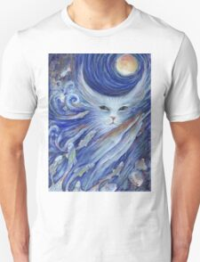 Cat's Dreamland art the from original watercolor fantasy painting  Unisex T-Shirt