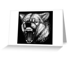 Gray-Scale Fury Greeting Card