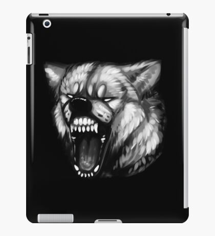 Gray-Scale Fury iPad Case/Skin